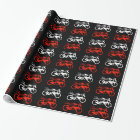 Artistic motorbike graphic wrapping paper
