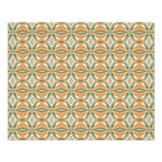 Artistic  Multicolor Comb. Abstract Design 11.5 Cm X 14 Cm Flyer