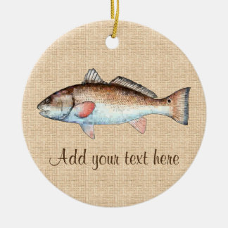 Artistic Natural Redfish Christmas Ornament