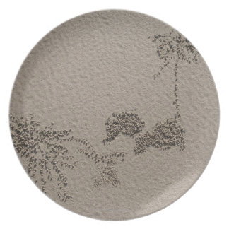 Artistic patterns made by Ghost Crabs  on Four Plate