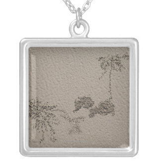 Artistic patterns made by Ghost Crabs  on Four Silver Plated Necklace