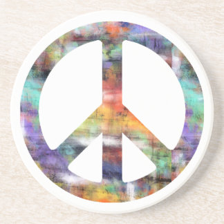 Artistic Peace Sign Coaster