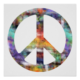 Artistic Peace Sign Poster