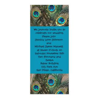 Artistic Peacock Wedding Invitation