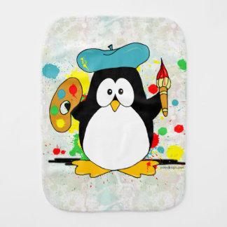 Artistic Penguin Baby Burp Cloth
