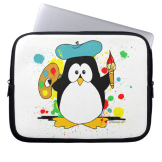 Artistic Penguin Laptop Sleeve
