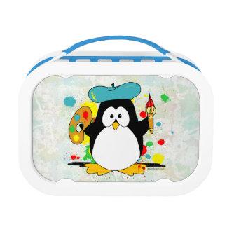 Artistic Penguin Lunch Box