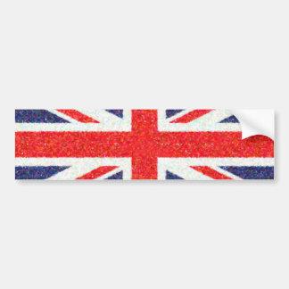 Artistic Pointillist UK Union Jack Flag Bumper Sticker
