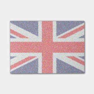 Artistic Pointillist UK Union Jack Flag Post-it® Notes