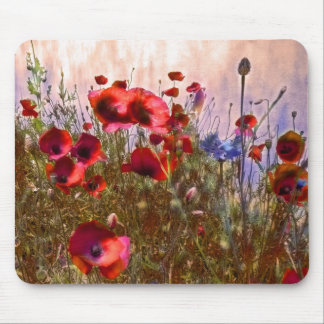 Artistic poppies mouse mat