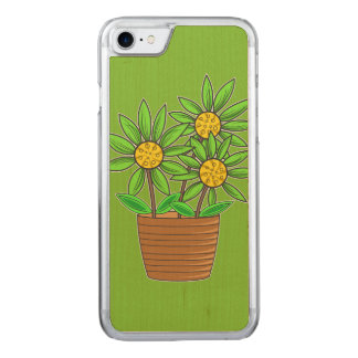 Artistic Potted Sunflower Carved iPhone 8/7 Case