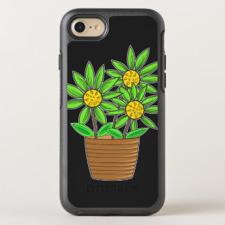 Artistic Potted Sunflowers OtterBox Symmetry iPhone 8/7 Case