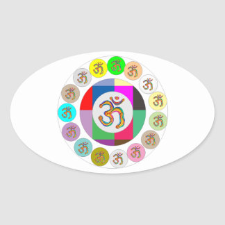 Artistic Presentation Matters - Dr Mantra Navin Oval Stickers