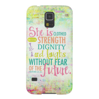Artistic Proverbs 31:25 Case For Galaxy S5