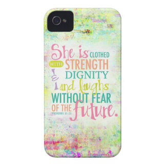 Artistic Proverbs 31:25 iPhone 4 Case