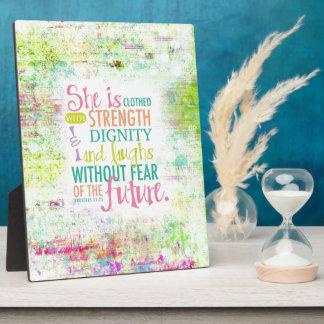 Artistic Proverbs 31:25 Plaque