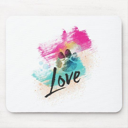 Artistic Puppy Love Mouse Mat