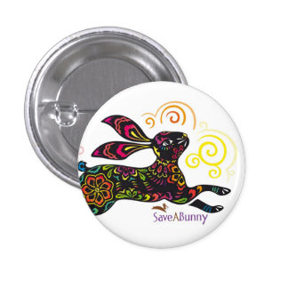 Artistic Rabbit 3 Cm Round Badge