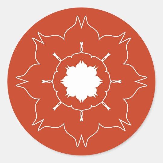 Artistic rangoli classic round sticker
