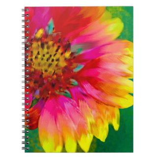 Artistic rendition of Indian Blanket flower Notebooks