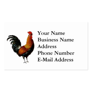 Artistic Rooster Design Business Cards