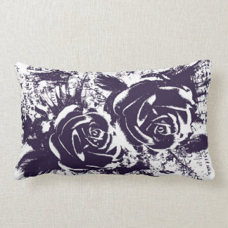 Artistic roses drawing pillow