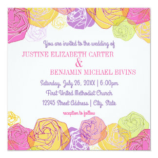 Artistic Roses - Wedding Invitation