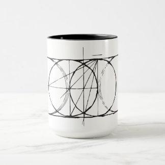 Artistic Sacred Geometry Vesica Pisces drinkware Mug