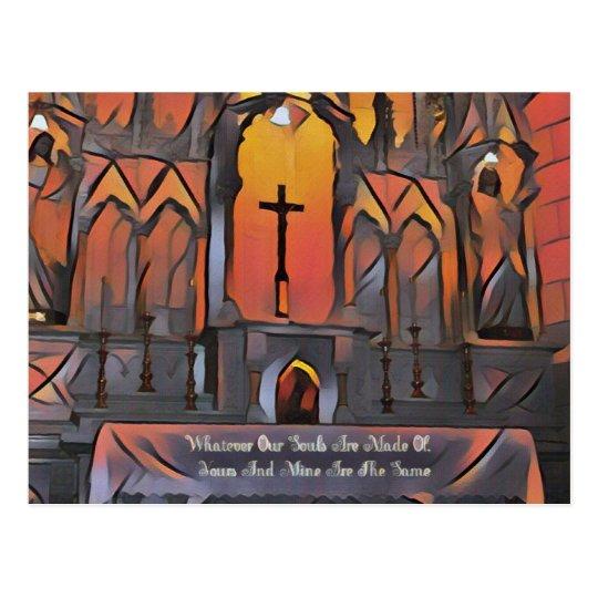 Artistic Sanctuary Cross Inspirational Quote Postcard