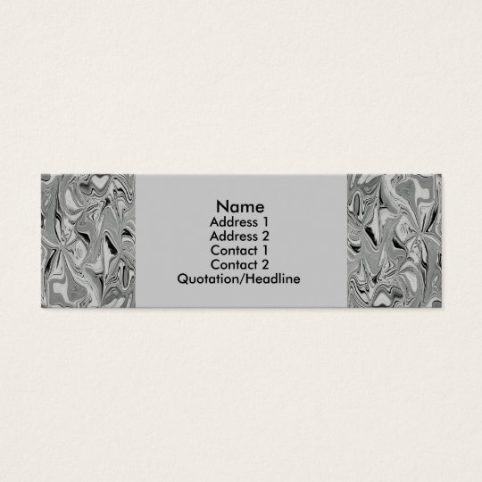 Artistic Silver Foil Business Card