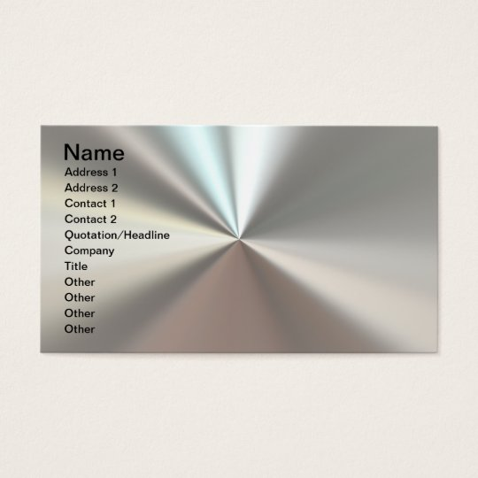 Artistic silver metal business card