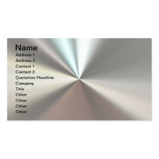 Artistic silver metal pack of standard business cards