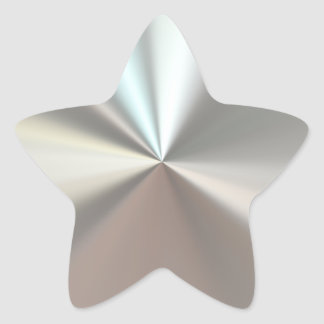 Artistic silver metal star sticker