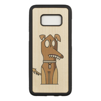 Artistic Sitting Dog Carved Samsung Galaxy S8 Case
