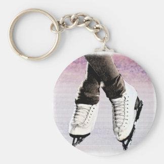 Artistic Skates Basic Round Button Key Ring