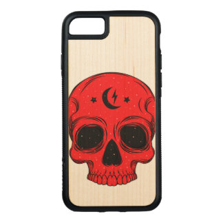 Artistic Skull (blue) Carved iPhone 8/7 Case
