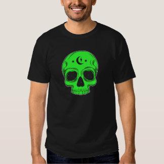 Artistic Skull (green) Tees