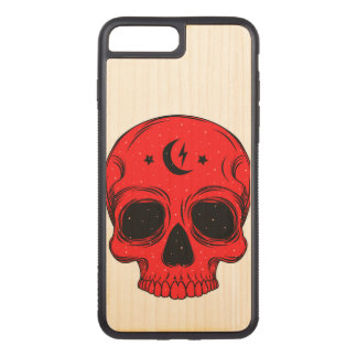Artistic Skull Illustration Carved iPhone 7 Plus Case