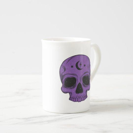 Artistic Skull (purple) Tea Cup