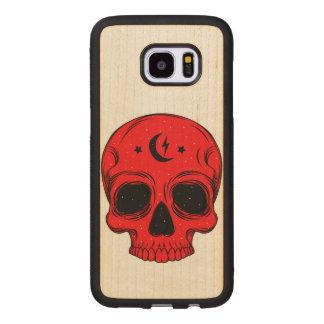 Artistic Skull Wood Samsung Galaxy S7 Edge Case