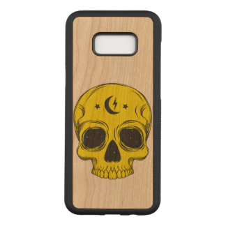 Artistic Skull (yellow) Carved Samsung Galaxy S8+ Case