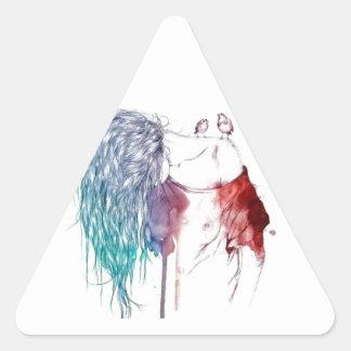 Artistic Triangle Sticker