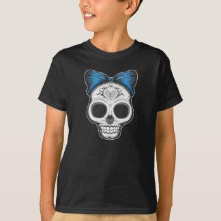 Artistic Sugar Skull (blue bow) T-Shirt
