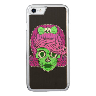 Artistic Sugar Skull Carved iPhone 8/7 Case