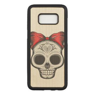 Artistic Sugar Skull Carved Samsung Galaxy S8 Case