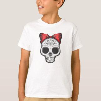 Artistic Sugar Skull (red bow) T-Shirt