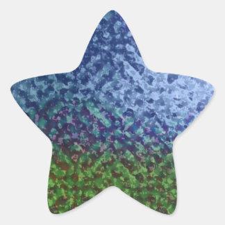 Artistic Summer Lawn Scene Star Stickers
