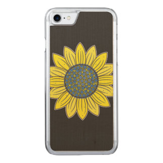 Artistic Sunflower Carved iPhone 8/7 Case