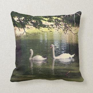 Artistic Swan Throw Pillow
