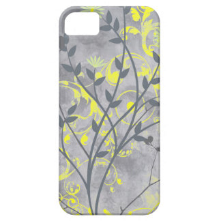 Artistic swirly grunge gray floral iPhone 5 cover